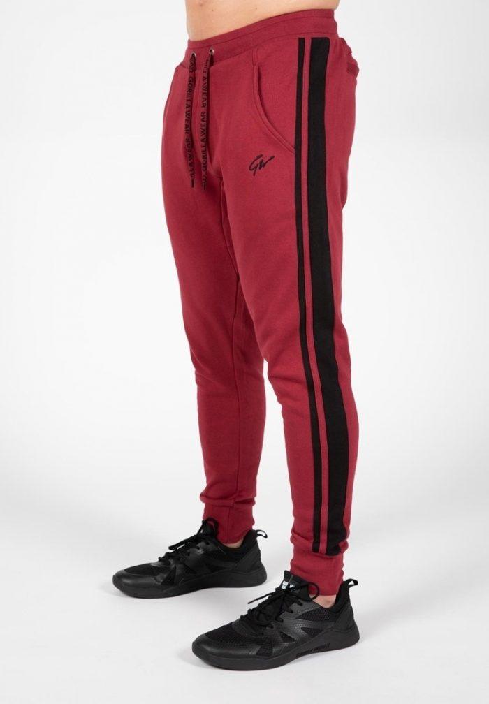 gorilla-wear-banks-trainingsbroek-bordeauxrood-zwart-xl