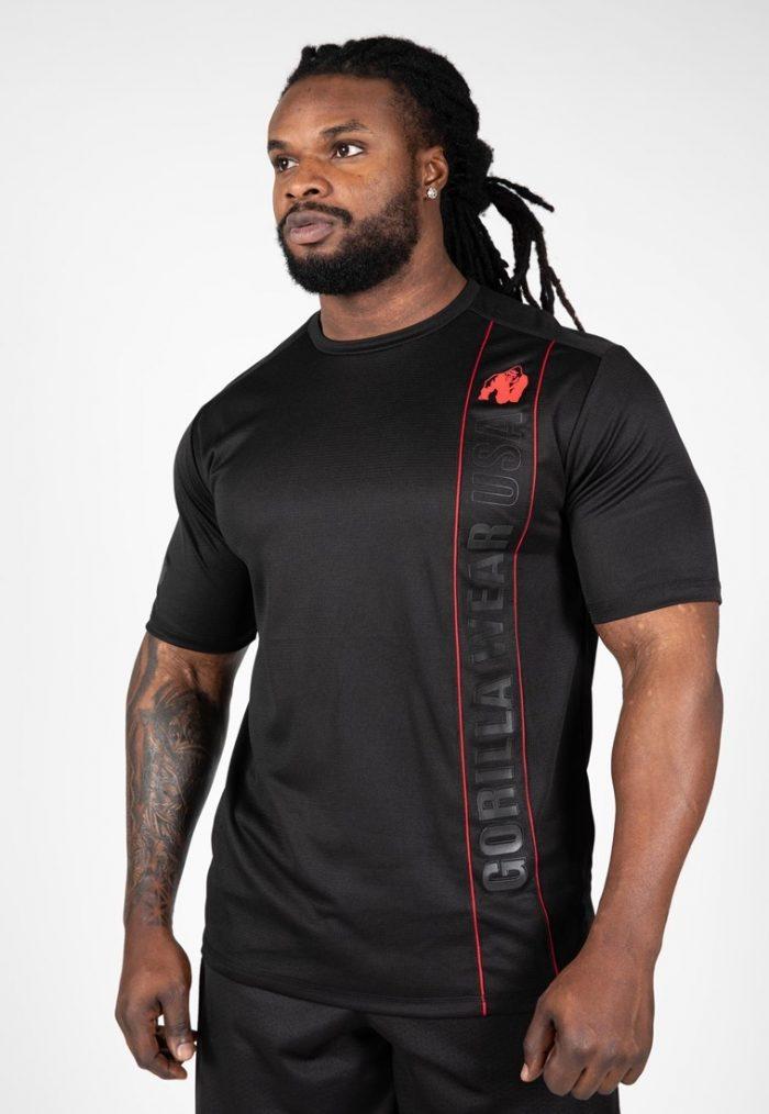 gorilla-wear-branson-t-shirt-zwart-rood-s
