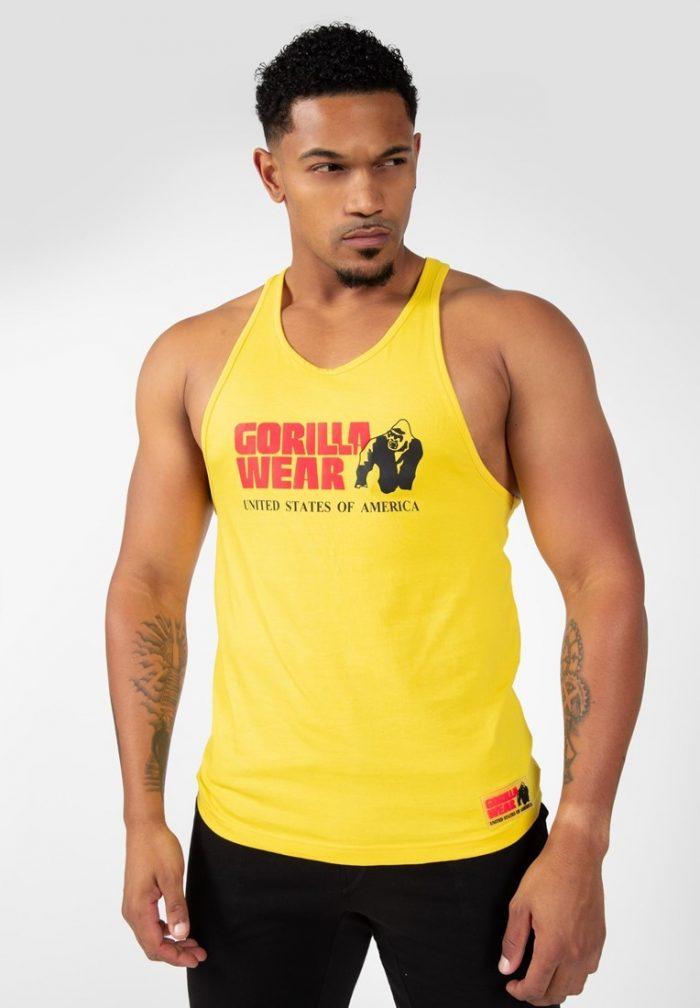 gorilla-wear-classic-tank-top-geel-m