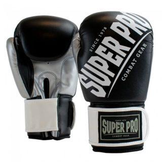 super-pro-combat-gear-rebel-kick-bokshandschoenen-zwart-grijs-wit-12-oz