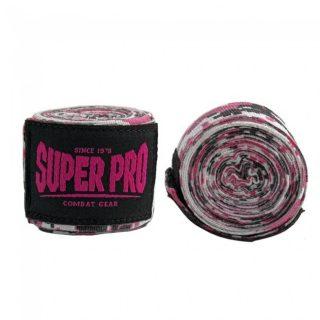 super-pro-combat-gear-semi-elastische-bandages-camo-roze-zwart-wit-250-cm
