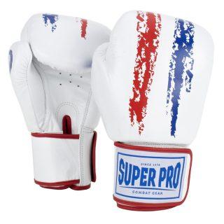 super-pro-combat-gear-warrior-lederen-kick-bokshandschoenen-rood-wit-blauw-16-oz