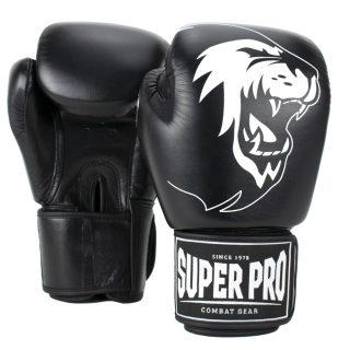super-pro-combat-gear-warrior-lederen-kick-bokshandschoenen-zwart-wit-12-oz